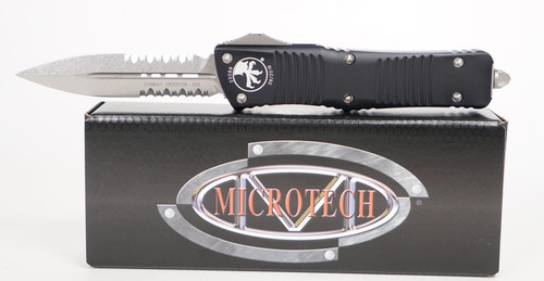 Microtech Combat Troodon D/E Partial Serrated