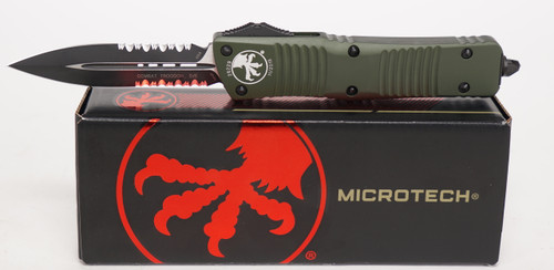 Microtech Combat Troodon D/E OD Green Partial Serrated