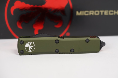 Microtech UTX-85 T/E OD Green Partial Serration