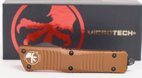 Microtech Combat Troodon D/E TAN Partial Serrated