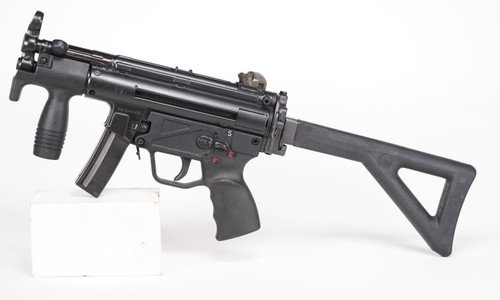 Heckler and Koch MP5K w/PDW Stock Pre Sample left side view w/stock open
