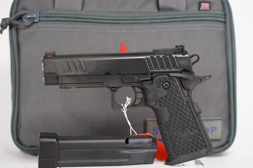 STI - STACCATO - P - 9mm 1911 Pistol - left side full view w/ pistol case