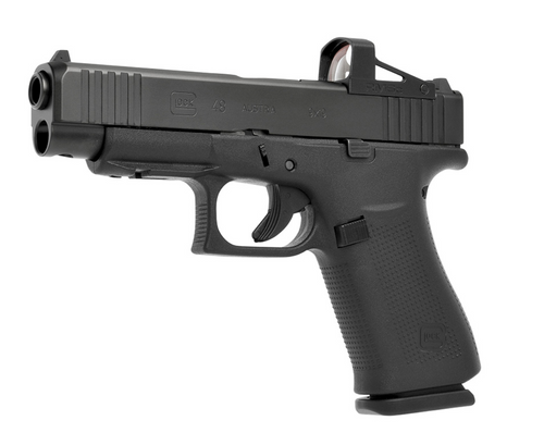 RMSc - Reflex Mini Sight Compact Glass Edition - Left side view mounted on a Glock