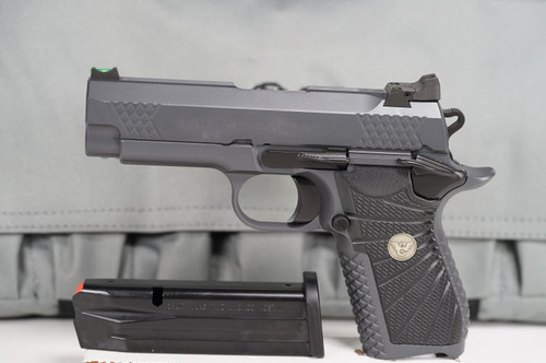 Wilson Combat EDC 9X - Grey over Grey - left side full view with carry case
