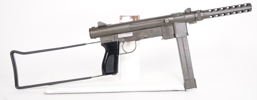 Smith and Wesson S&W 76 9mm Submachine Gun Right side full view with stock open