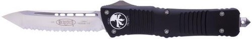 Microtech Combat Troodon T/E Satin Full Serrated - Full View