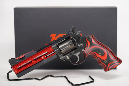 Nighthawk Custom Korth ULX 357 Magnum Red with Fitted 9mm cylinder