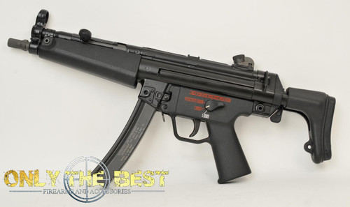 Heckler and Koch MP5A3 w/Stock Closed Left Side View