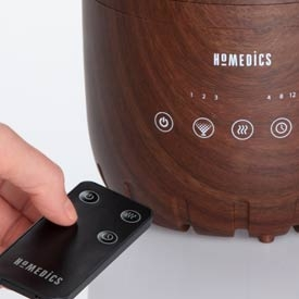 using remote for TotalComfort 2-in-1 Warm and Cool Humidifier