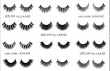 50% off all LASHES. 7 DAY SALE