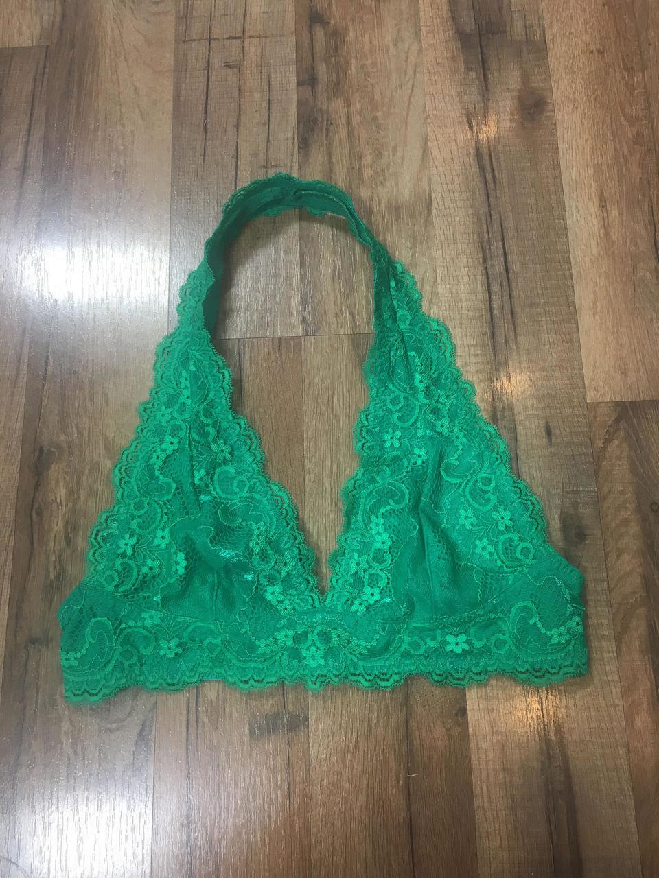 bda9dad676bce2 Green Halter Bralette - Younique Culture