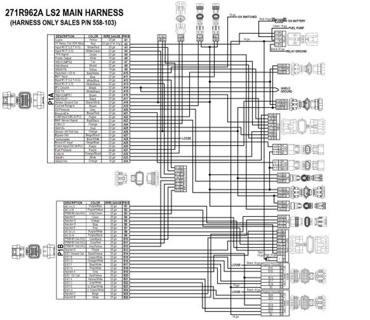 Holley HP EFI GM LS 24x ECU & Harness Kit w/ Bosch O2 550-602 on