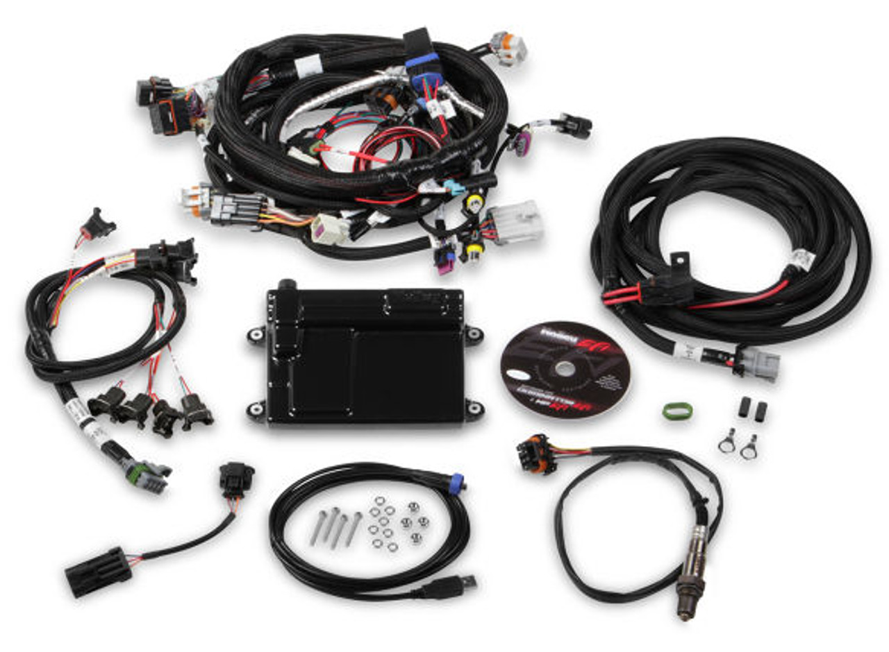 Holley HP EFI GM LS 58x ECU & Harness Kit w/ Bosch O2 550-607