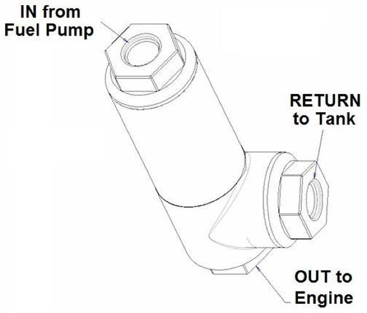 Holley 12-875 EFI Fuel Filter Regulator Assembly w/ 3/8