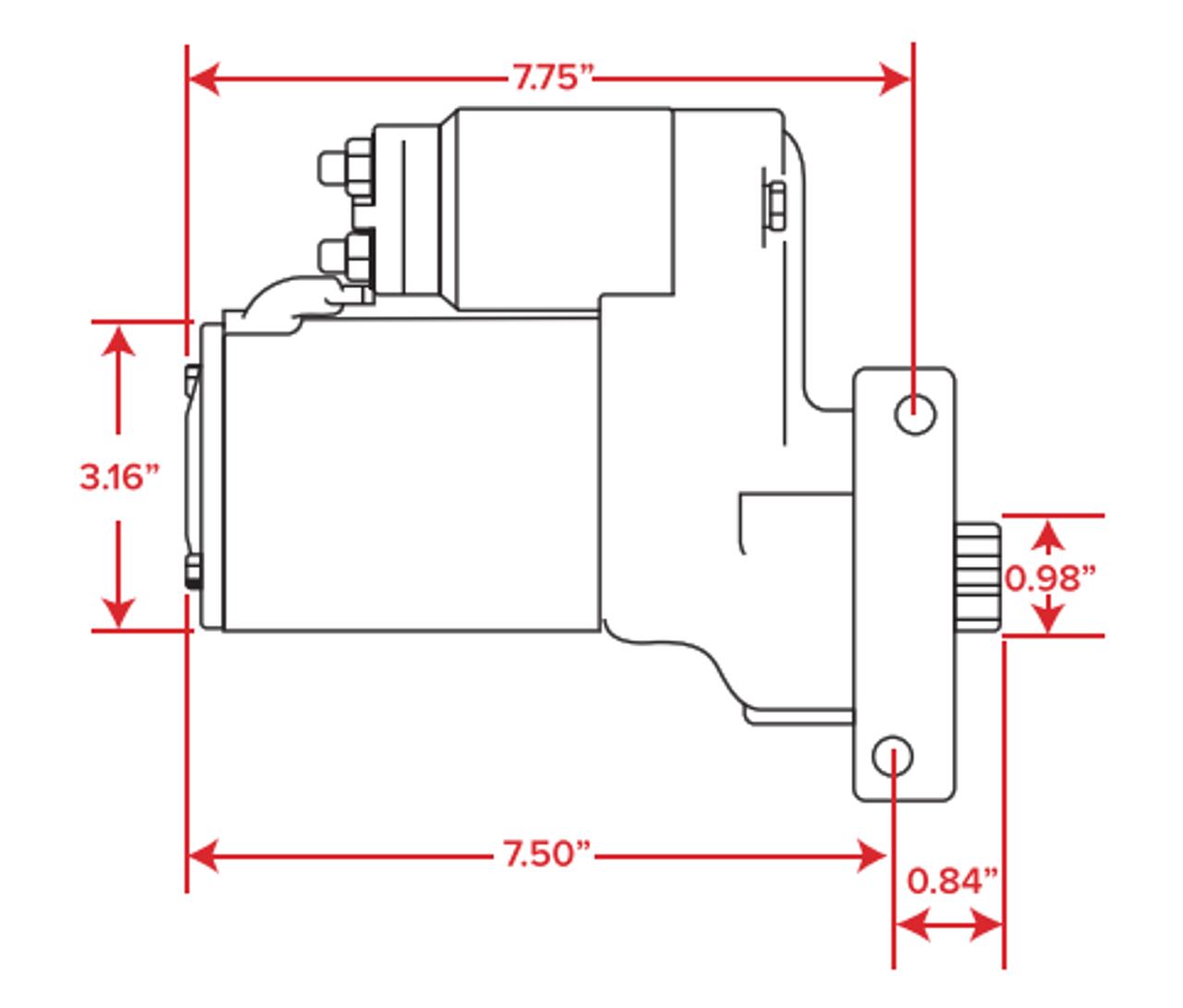 GM LSX High Torque Mini Starter - Red High Torque Mini Starter Wiring Diagram on