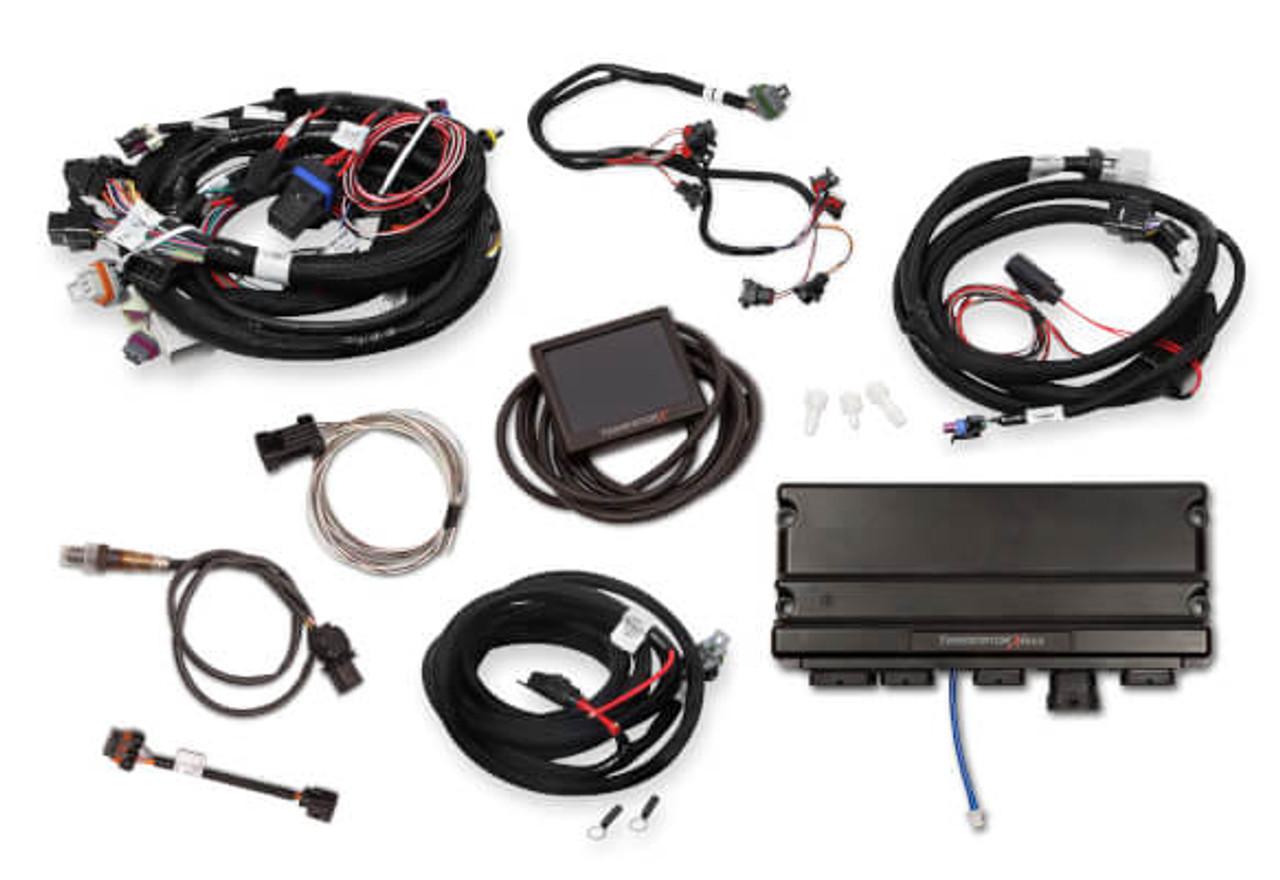 Holley Terminator X Max GM LS Standalone ECU & Wire Harness 550-916 -  24x/EV1/Trans ControlLSXceleration