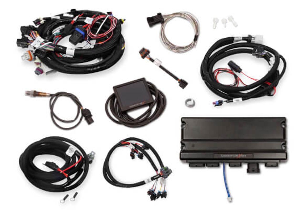 Holley Terminator X Max GM LS Standalone ECU & Wire Harness 550-917 -  24x/Multec 2/Trans Control