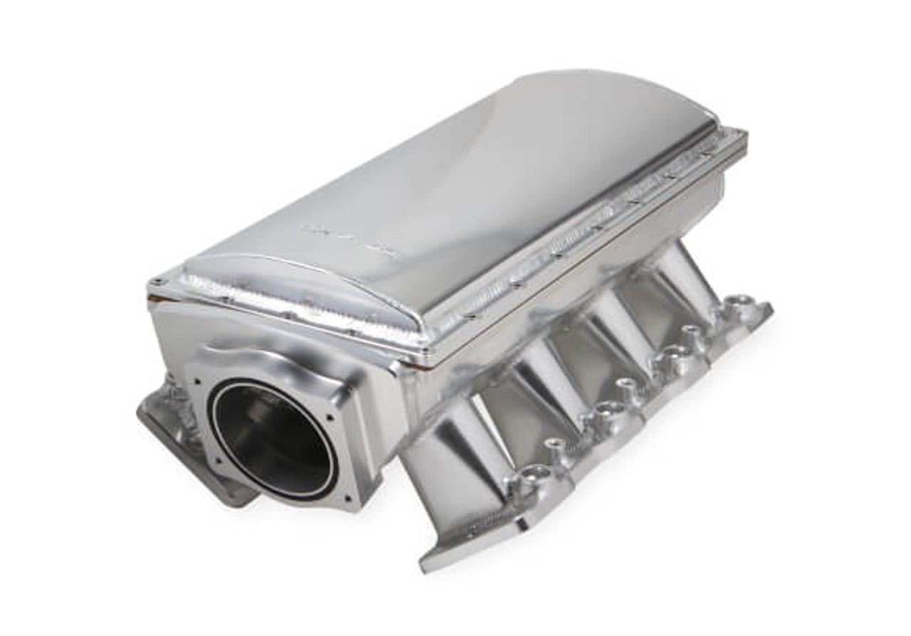 Holley Sniper Hi-Ram LS3 90mm EFI Intake Manifold, Throttle Body Spacer &  Fuel Rail Kit 838231 - Fabricated, Silver