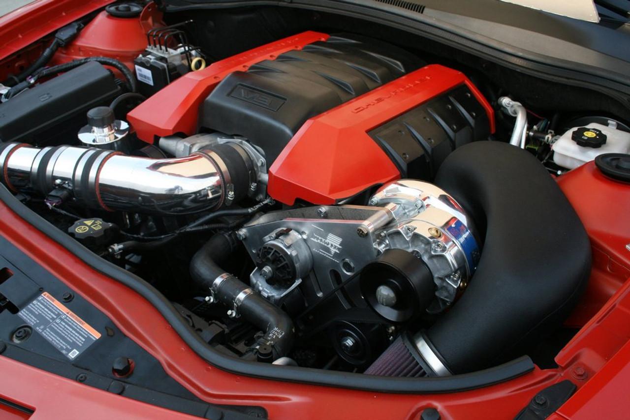Supercharger Kit, 2010-2011 6 2L Camaro SS, V-3, Si-Trim, Satin Finish -  Vortech Superchargers 4GE218-010L