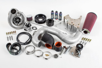 Supercharger Kit, 2001-2002 6.0L Truck/SUV, V-2 SQ Sci-Trim, Satin Finish - Vortech Superchargers 4GL218-040SQ