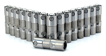Set of 16 COMP Cams 15850-16 Short Travel Race Hydraulic Roller Lifter for Small Block Chevy Engines with OE Hydraulic Roller Camshaft,