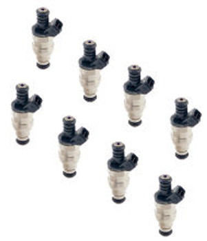ACCEL FUEL INJECTORS 150844 - 44 LB / HR - 12 V SATURATED CIRCUIT - 12 OHMS IMPEDANCE - 8 PACK