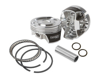 Diamond LS 3.780 Bore 3.622 Stroke -2cc Flat Top Piston Kit 11593-R1-8