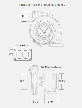 BorgWarner S480SX4 80/88 1.32 A/R T6 Turbocharger 177287