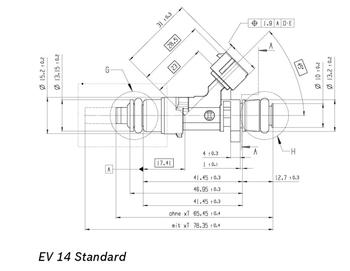 DeatschWerks LS2 60 lb/hr EV14S USCAR Fuel Injectors 17U-00-0060-8