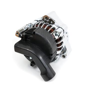 GM LS Car Alternator CS130D Style High Output 180 Amp Chrome