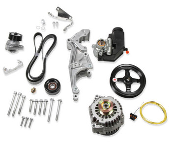 Holley LS Low Mount Accessory Drive System w/ Alternator & P/S (20-156)