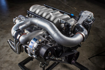 LS Swap Universal Supercharger System, V3 Si-Trim, Satin Finish - Vortech Superchargers 4GX218-010L