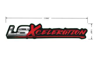 """LSXceleration Vinyl Decal 1.489"""" x 7.790"""""""