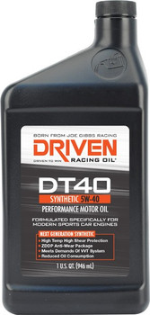 Driven Racing Oil DT40 Synthetic 5W-40 Engine Oil