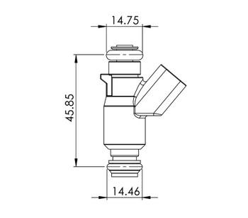 Delphi 36lb/hr 2000-07 LS Truck Injectors 56010-380-8-D