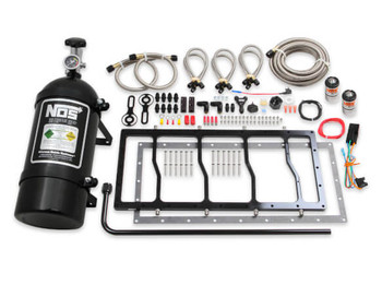 NOS Dry Nitrous Plate System for Sniper LS Race Series Manifold - 10lb Black Bottle w/ Black Plate 05503BNOS