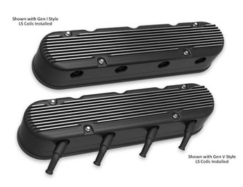 Holley LS 2-Piece Vintage Finned Valve Covers 241-182