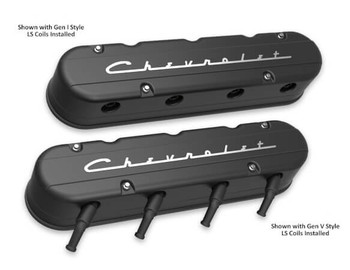 Holley LS 2-Piece Chevrolet Script Logo Valve Covers 241-177
