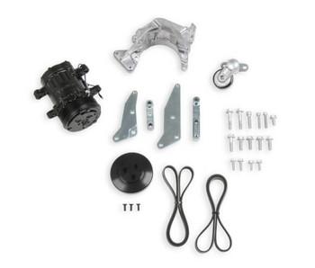 Holley LS Low Mount Passenger Side A/C Bracket & Compressor Kit 20-160BK