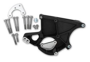 Holley LS Power Steering & Alternator Bracket 20-135BK - Driver Side, Black