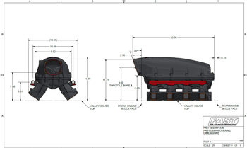 FAST LSXHR 103mm LS3 Intake Manifold 146106
