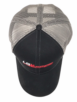 LSXceleration Trucker Hat Black with Charcoal Mesh, Snapback 65504