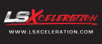 LSXceleration 3' x 7' Solid Black Background Banner LSX65401