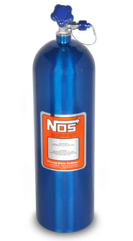 NOS Dry Nitrous Plate System for Holley LS Hi Ram Intake Manifold - 15lb Blue Bottle w/ Silver Plate 05501NOS