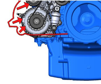 Holley LT4 Wet Sump Mid Mount Complete  Accessory Drive Kit 20-224BK