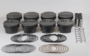 Mahle PowerPak LS 4.000 Bore 4.000 Stroke -5.8cc Flat Top Piston Kit 930227500