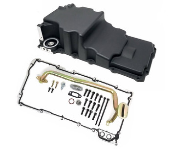 LSXceleration Low Profile GM LS Oil Pan Kit, Black 17-302-2B