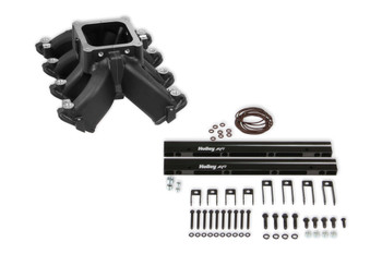 Holley LS Single Plane Split-Design Cathedral Port EFI Intake Manifold 300-294BK