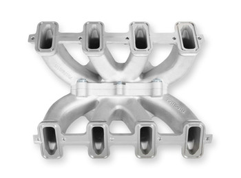 Holley LS Single Plane Split-Design Cathedral Port Carbureted Intake Manifold 300-295