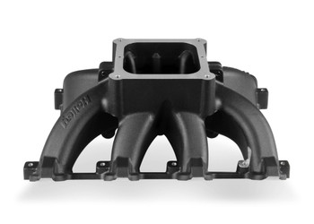 Holley LS Single Plane Split-Design Cathedral Port Carbureted Intake Manifold 300-295BK